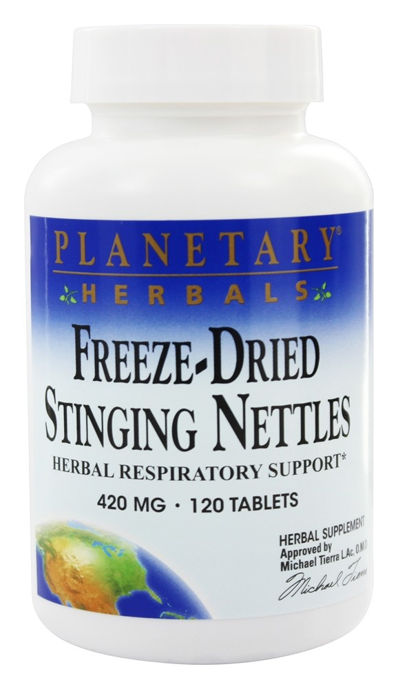 Planetary Herbals - Freeze-Dried Stinging Nettles 420 mg. - 120 Tablets Formerly Planetary Formulas