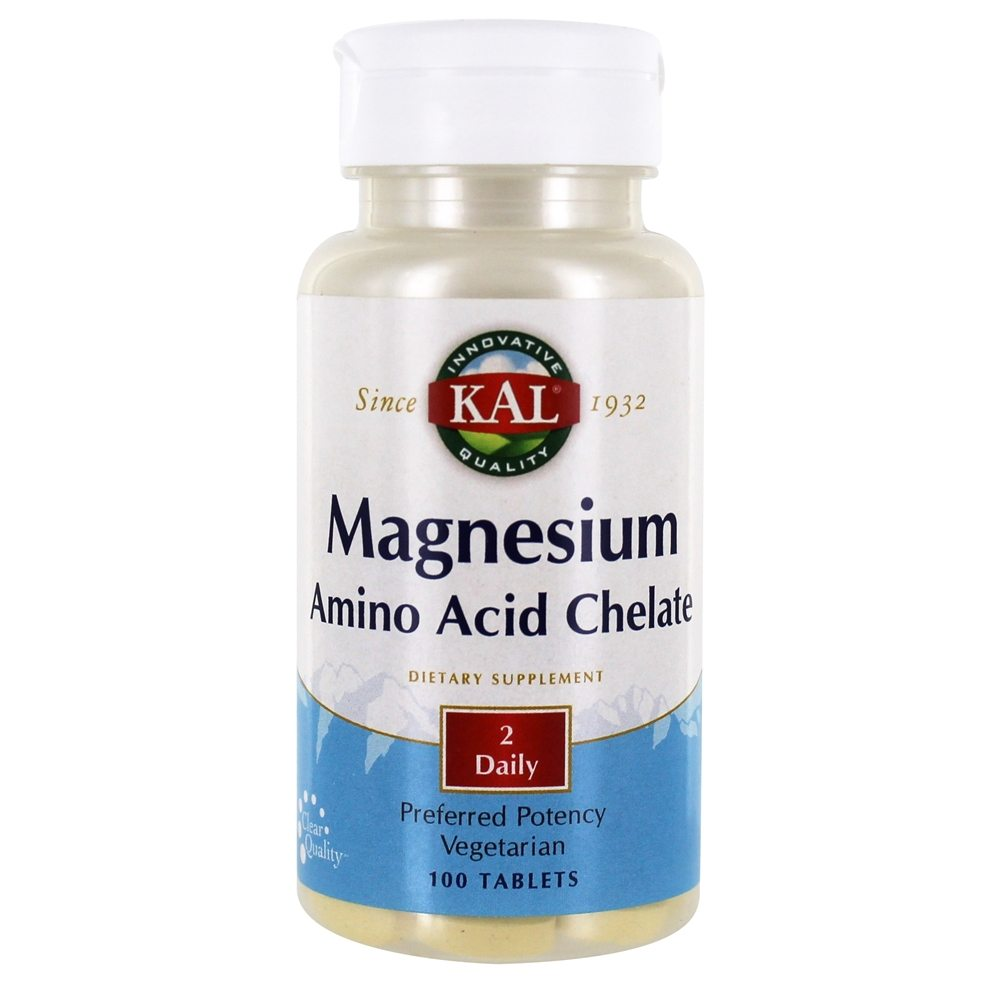 Kal - Magnesium Chelated - 100 Tablets