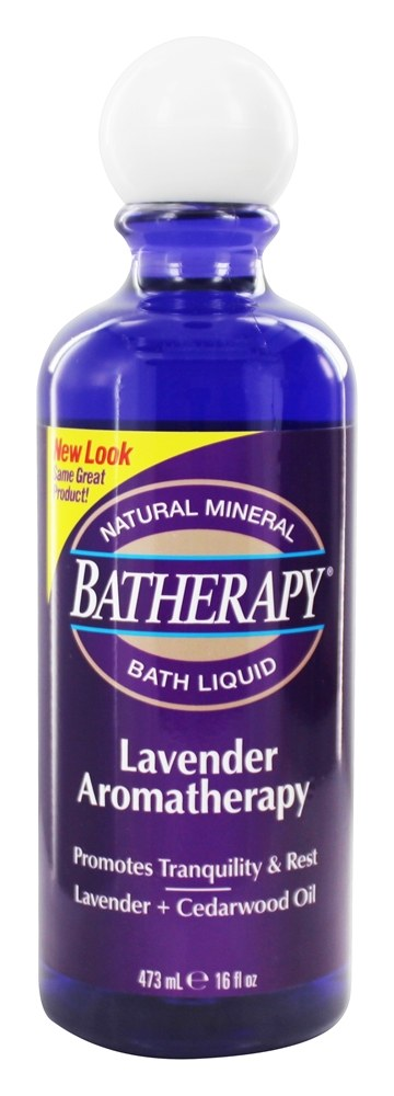Queen Helene - Batherapy Liquid Natural Mineral Bath Aromatherapy Lavender - 16 oz.