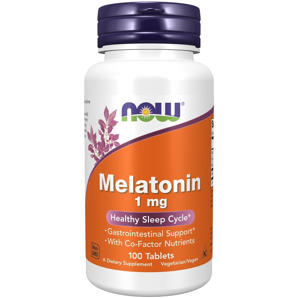 NOW Foods - Melatonin 1 mg. - 100 Tablets