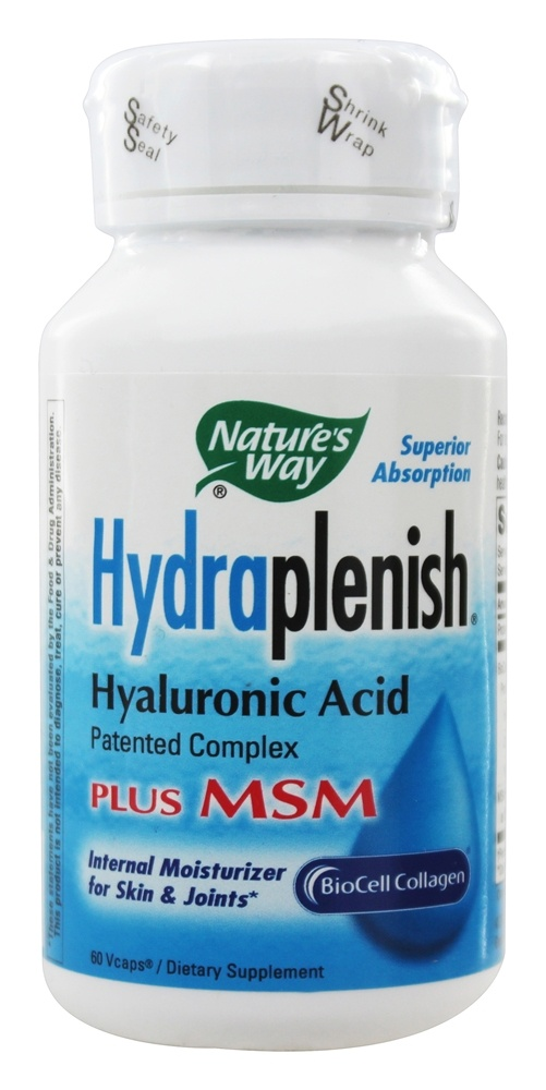 Nature's Way - Hydraplenish with MSM - 60 Vegetarian Capsules