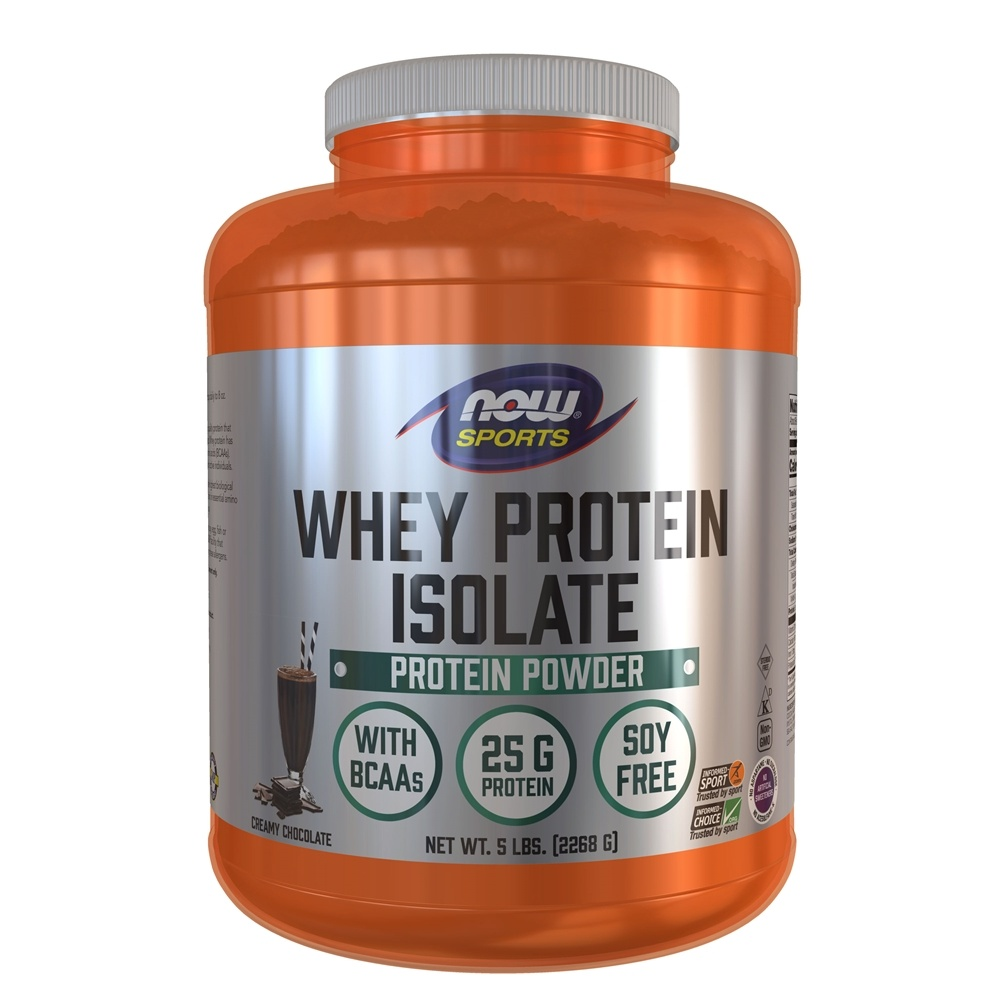 NOW Foods - Whey Protein Isolate Dutch Chocolate - 5 lbs.