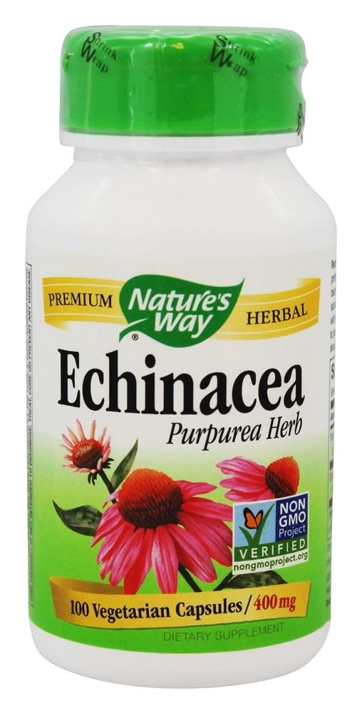 Nature's Way - Echinacea Purpurea Herb 400 mg. - 100 Vegetarian Capsules
