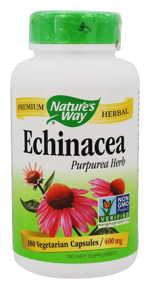 Nature's Way - Echinacea Purpurea Herb 400 mg. - 180 Vegetarian Capsules