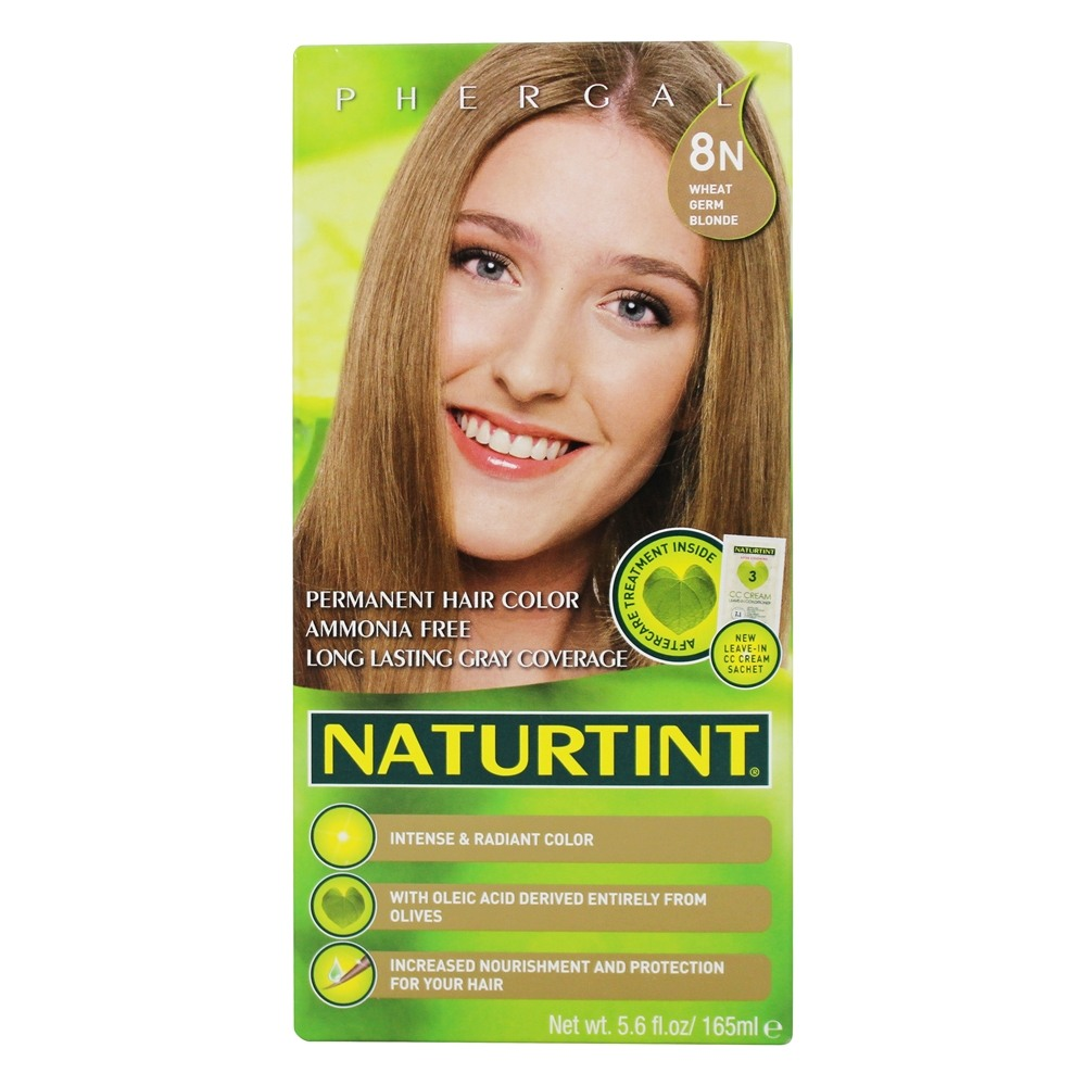 Naturtint - Permanent Hair Colorant 8N Wheat Germ Blonde - 4.5 oz.