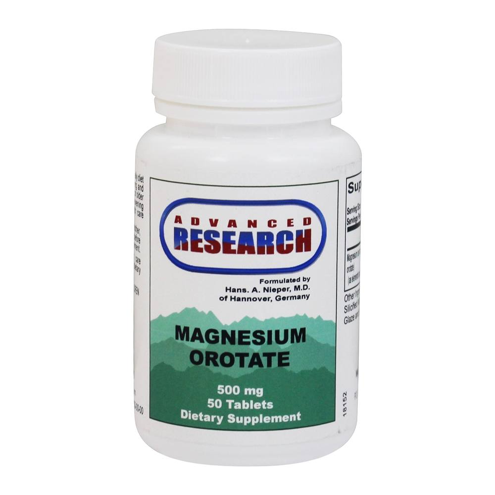 Advanced Research - Magnesium Orotate 500 mg. - 50 Tablets