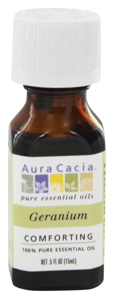 Aura Cacia - Essential Oil Comforting Geranium - 0.5 oz.