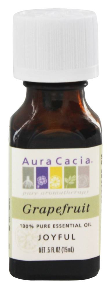 Aura Cacia - Essential Oil Joyful Grapefruit - 0.5 oz.