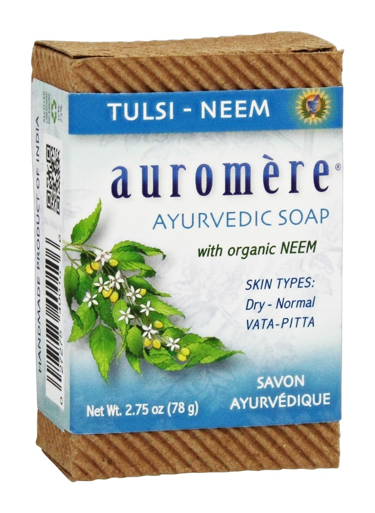 Auromere - Ayurvedic Bar Soap with Organic Neem Tulsi-Neem - 2.75 oz.