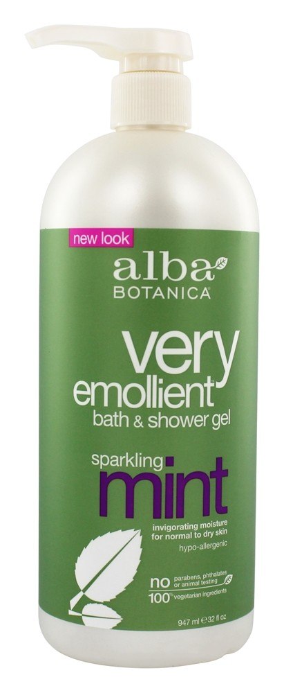 Alba Botanica - Very Emollient Bath & Shower Gel Sparkling Mint - 32 oz.