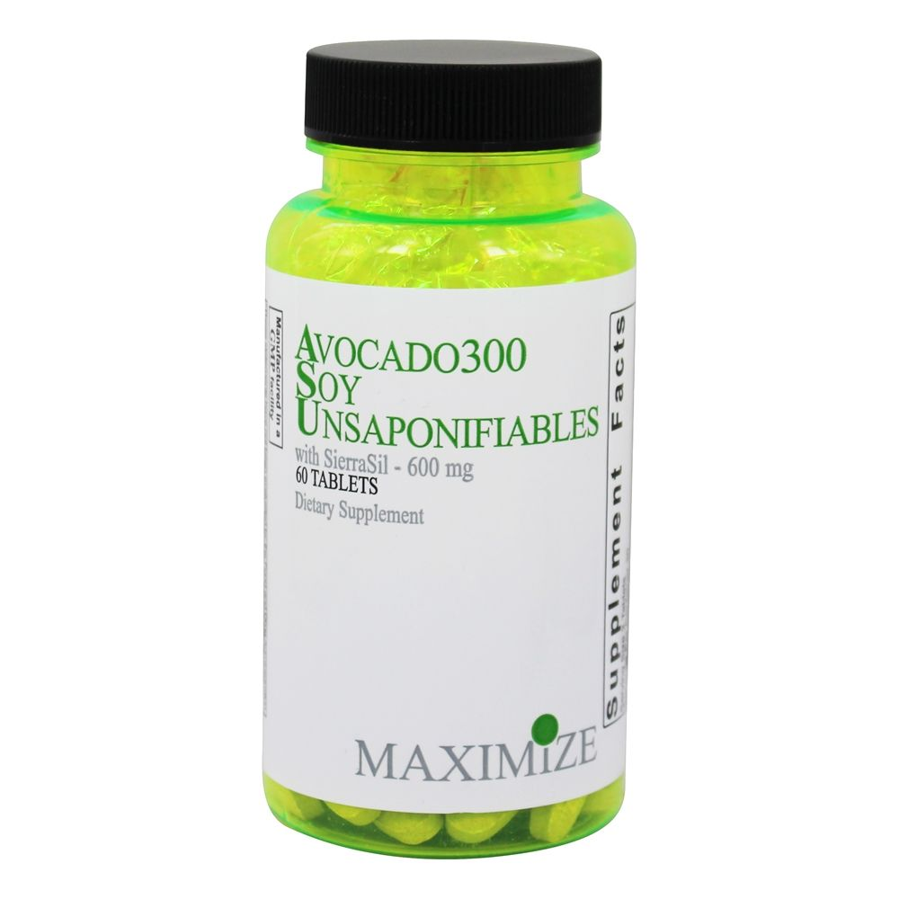 Maximum International - Avocado 300 Soy Unsaponifiables with SierraSil - 60 Tablets