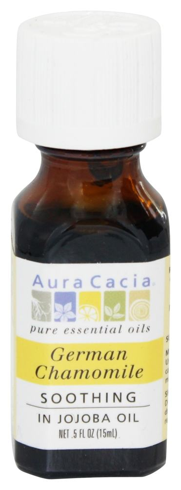 Aura Cacia - Precious Essentials Soothing German Chamomile in Jojoba Oil - 0.5 oz.