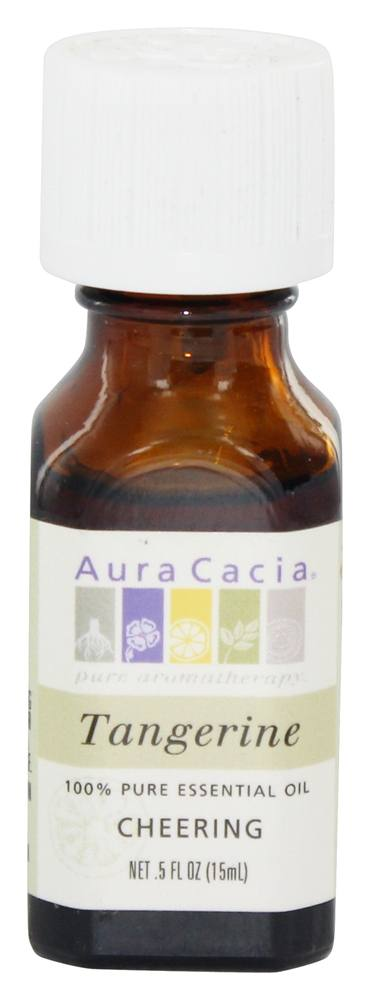 Aura Cacia - Essential Oil Cheering Tangerine - 0.5 oz.