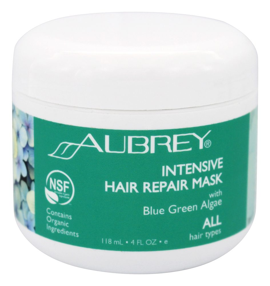 Aubrey Organics - Intensive Hair Repair Conditioning Mask With Blue Green Algae - 4 oz.