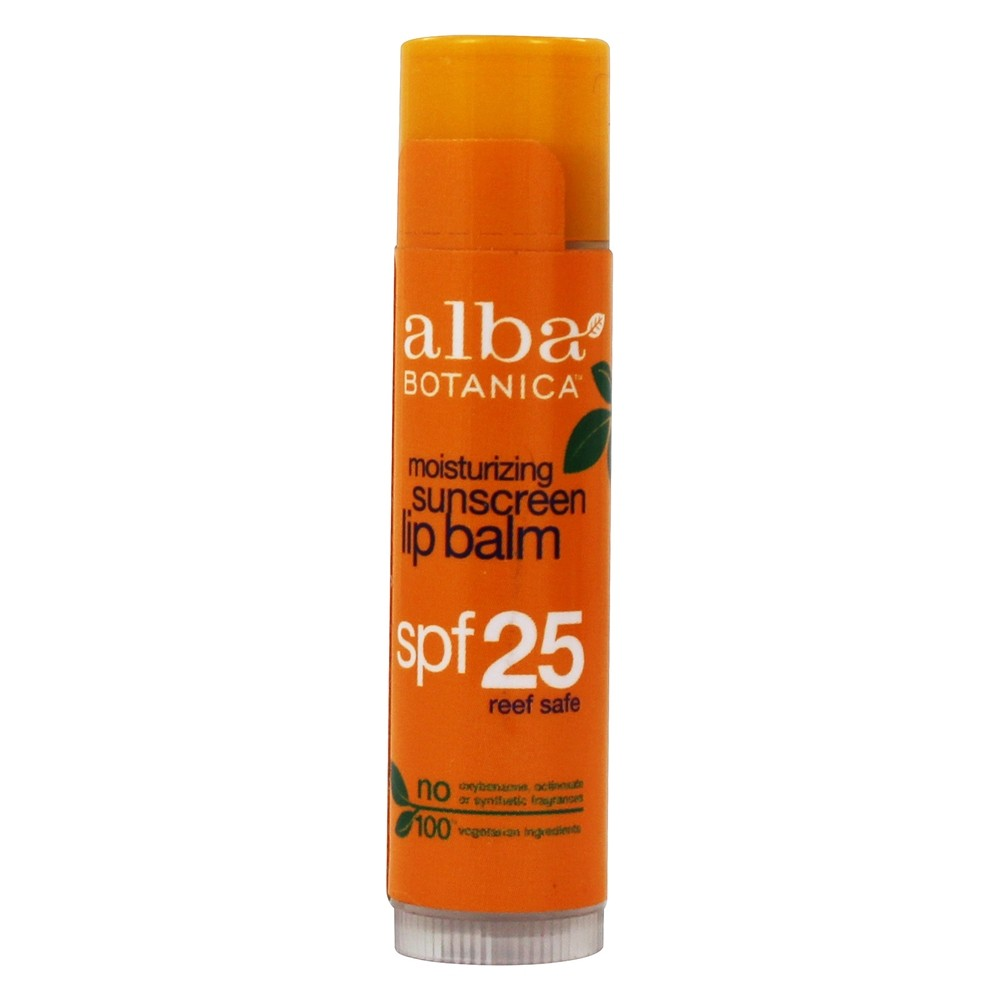 Alba Botanica - Very Emollient Sunblock Lip Care 25 SPF - 0.15 oz.