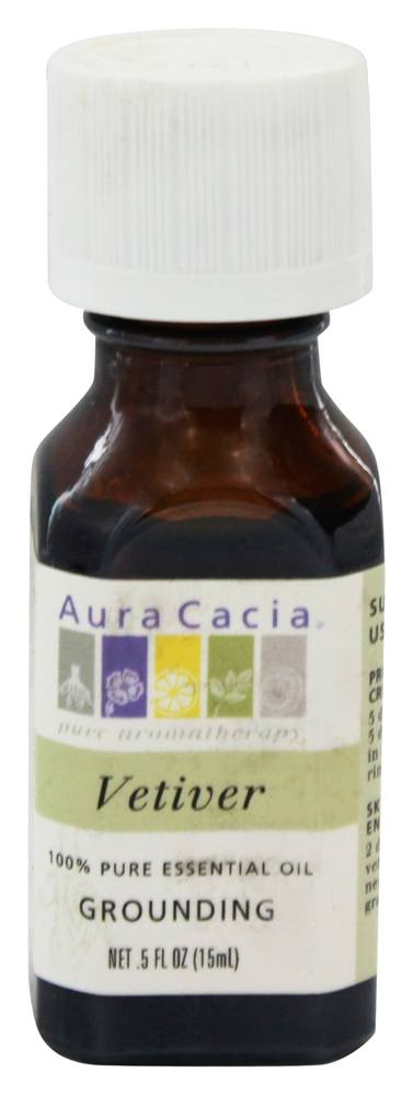 Aura Cacia - Essential Oil Grounding Vetiver - 0.5 oz.