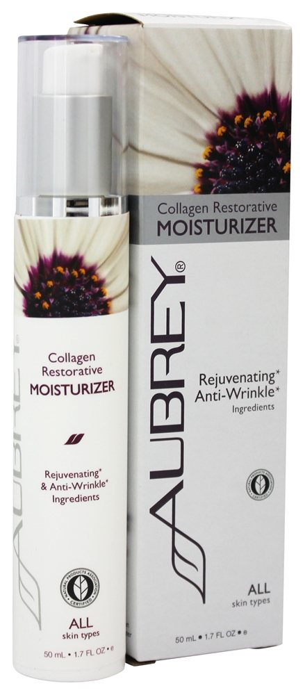 Aubrey Organics - Collagen Restorative Moisturizer - 1.7 oz. Formerly Collagen TCM Therapeutic Cream Moisturizer - 2 oz.