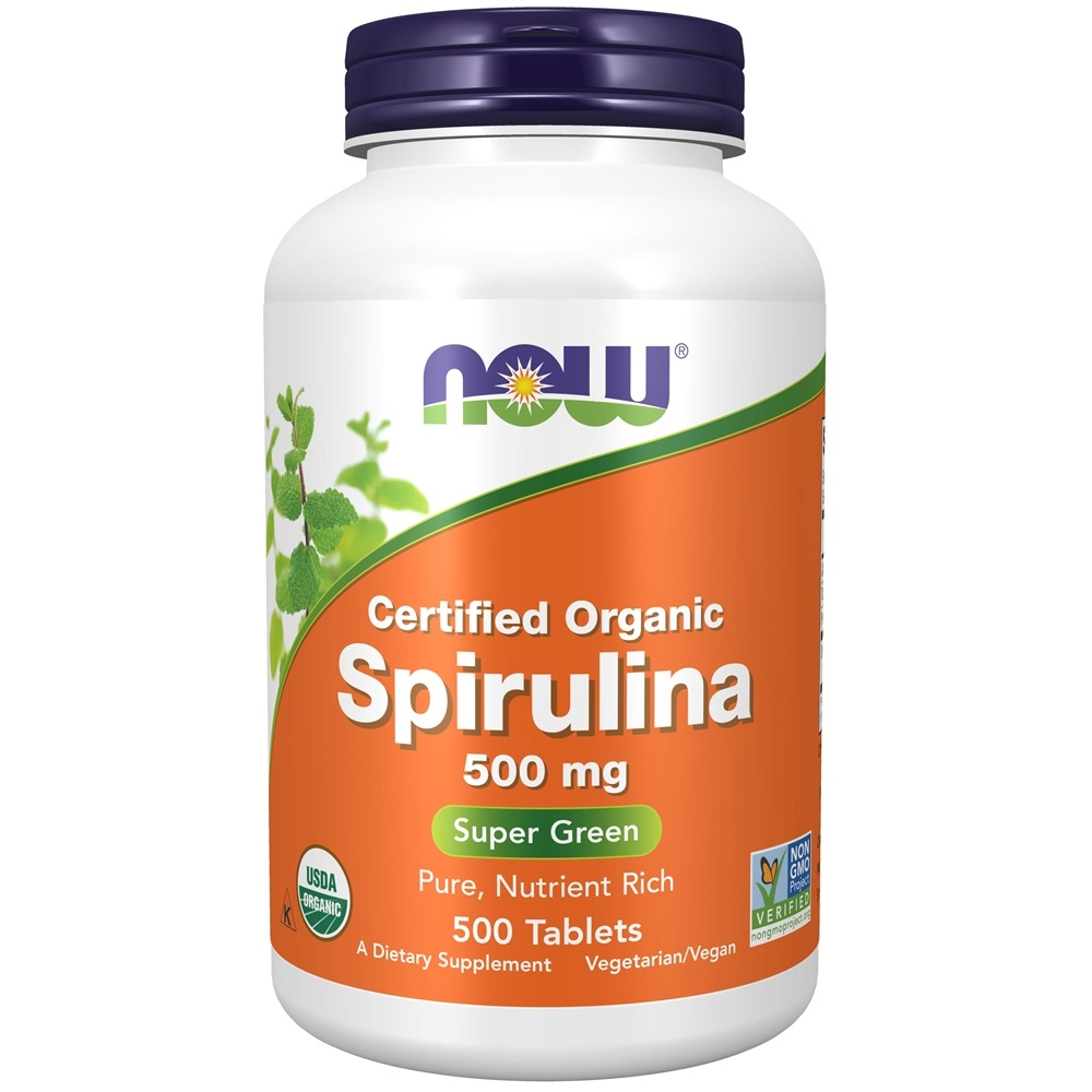 NOW Foods - Spirulina 100% Natural 500 mg. - 500 Tablets