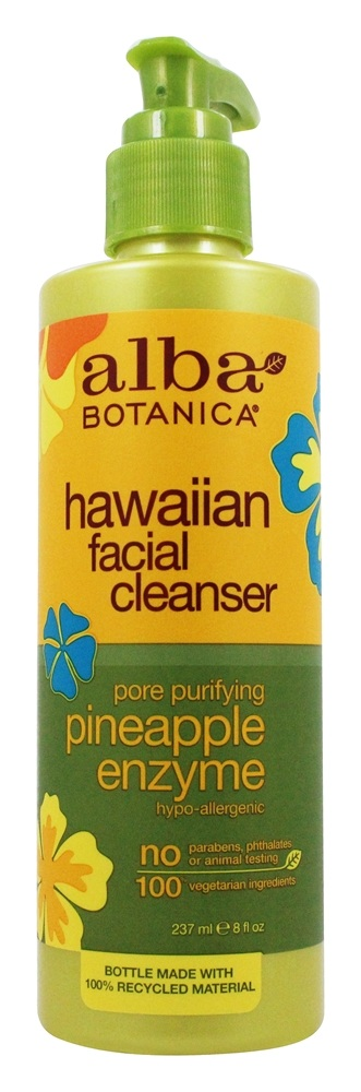 Alba Botanica - Alba Hawaiian Facial Cleanser Pineapple Enzyme - 8 oz.
