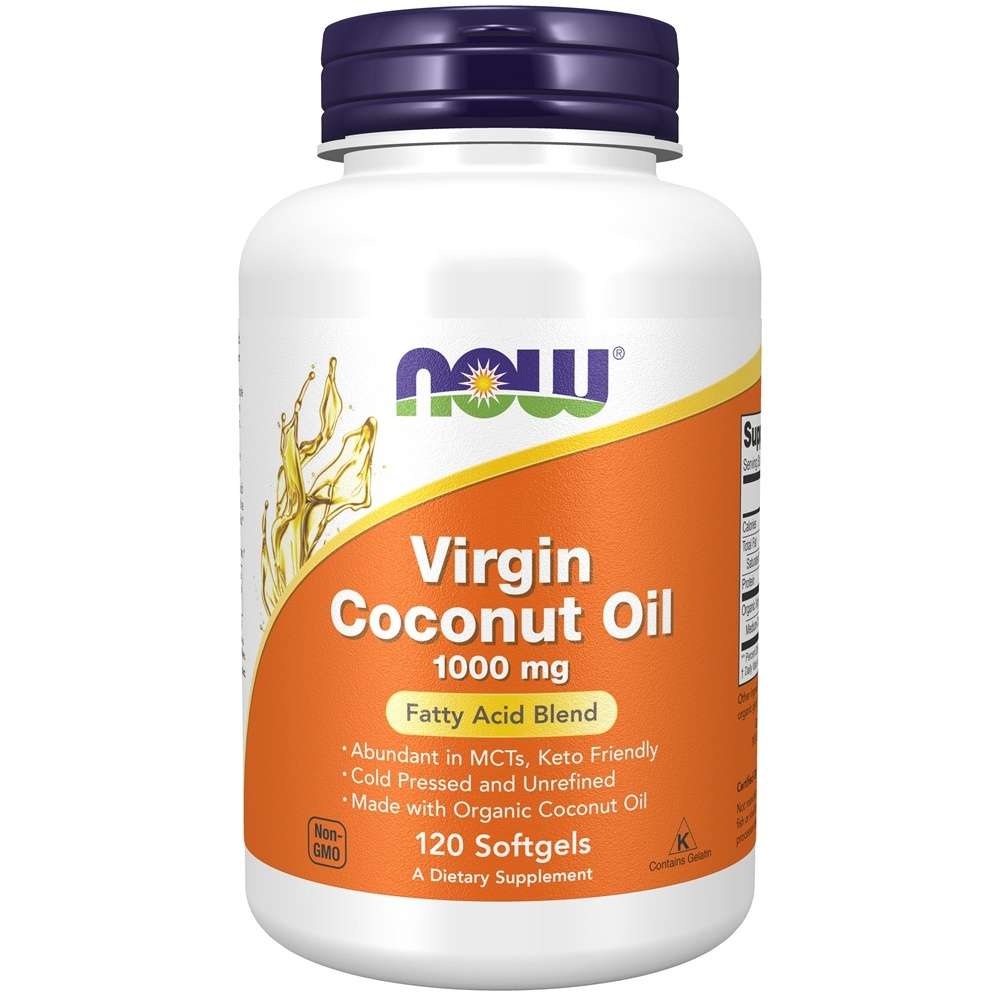 NOW Foods - Virgin Coconut Oil 1000 mg. - 120 Softgels