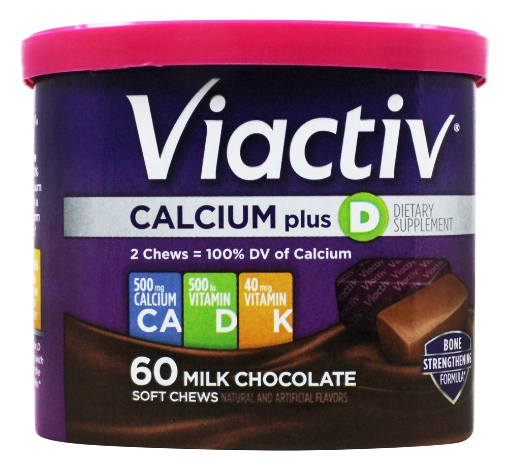 McNeil Nutritionals - Viactiv Soft Calcium Chews Milk Chocolate - 60 Chew(s)