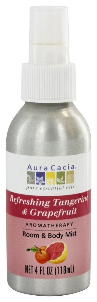 Aura Cacia - Aromatherapy Mist For Room and Body Tangerine & Grapefruit - 4 oz.