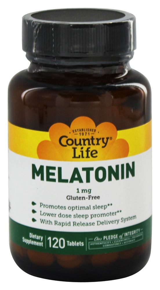 Country Life - Melatonin 1 mg. - 120 Tablets