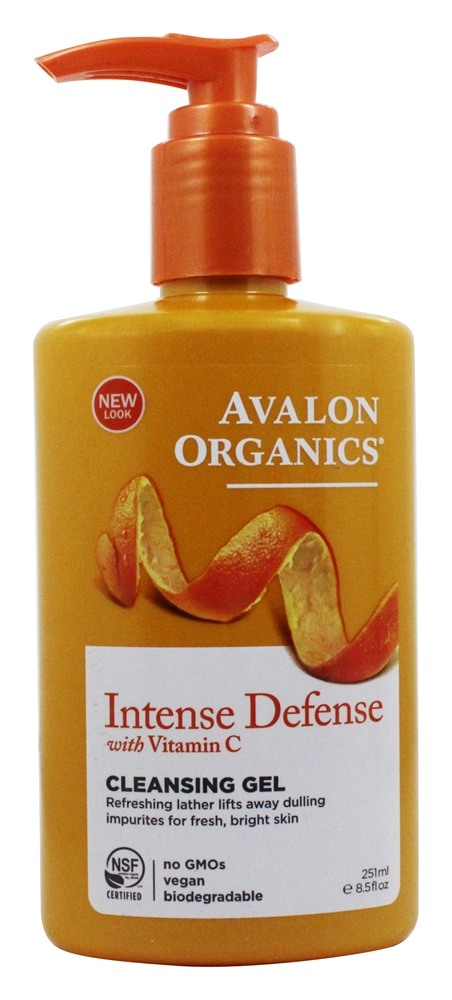 Avalon Organics - Vitamin C Renewal Refreshing Cleansing Gel - 8.5 oz. (Formerly Skin Nourishing Sun-Aging Defense)
