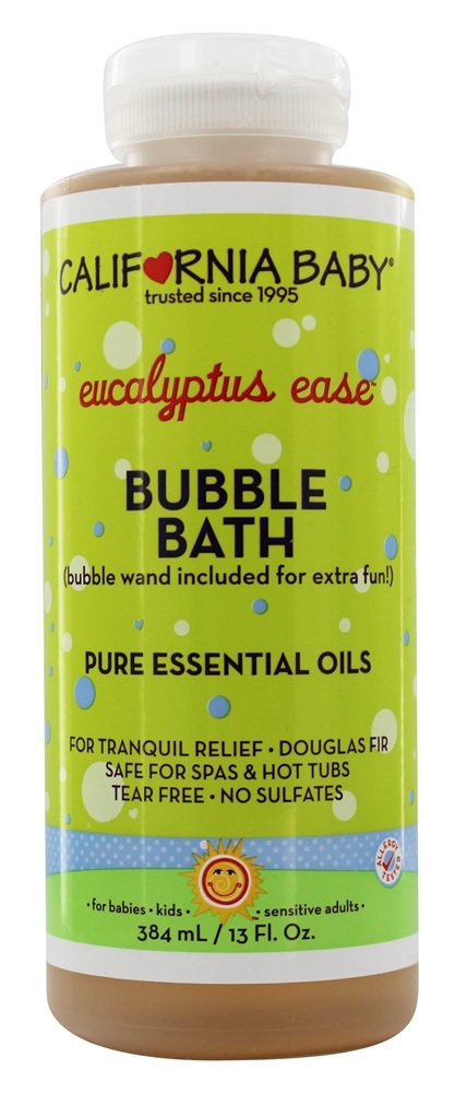 California Baby - Eucalyptus Ease Bubble Bath Pure Essential Oils Eucalyptus and Douglas Fir - 13 oz. Formerly Aromatherapy Bubble Bath