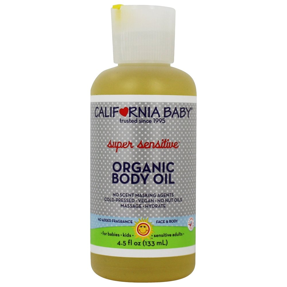 California Baby - Aromatherapy Organic Body Oil Super Sensitive No Fragrance - 4.5 oz.