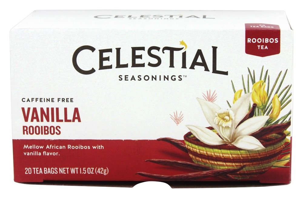 Celestial Seasonings - Madagascar Vanilla Red Tea Caffeine Free - 20 Tea Bags