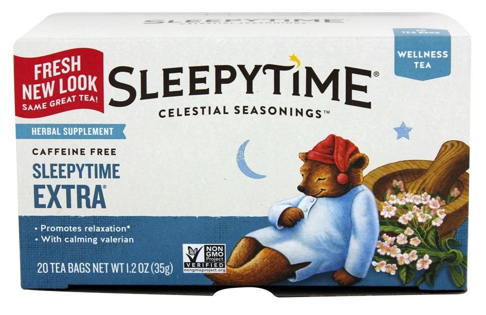 Celestial Seasonings - Sleepytime Extra Wellness Tea Caffeine Free - 20 Tea Bags