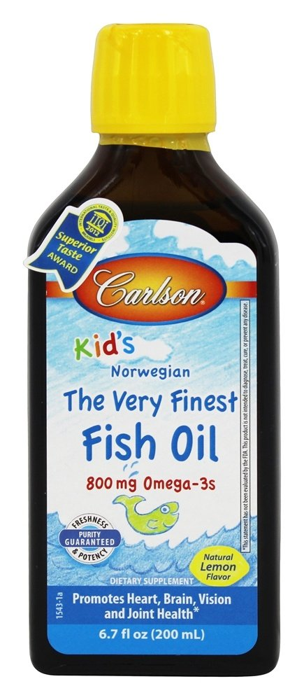 Carlson Labs - For Kids The Very Finest Norwegian Fish Oil Great Lemon Flavor - 6.7 oz.