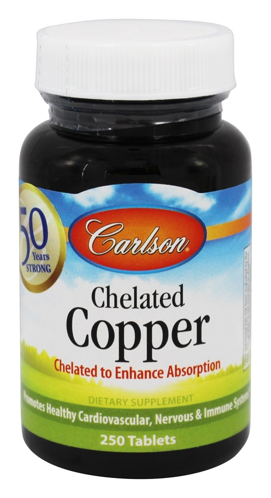 Carlson Labs - Chelated Copper 5 mg. - 250 Tablets