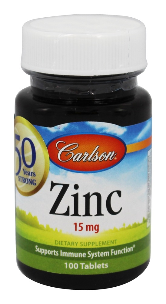Carlson Labs - Zinc 15 mg. - 100 Tablets