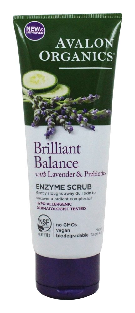 Avalon Organics - Lavender Luminosity Exfoliating Enzyme Scrub Unscented - 4 oz.