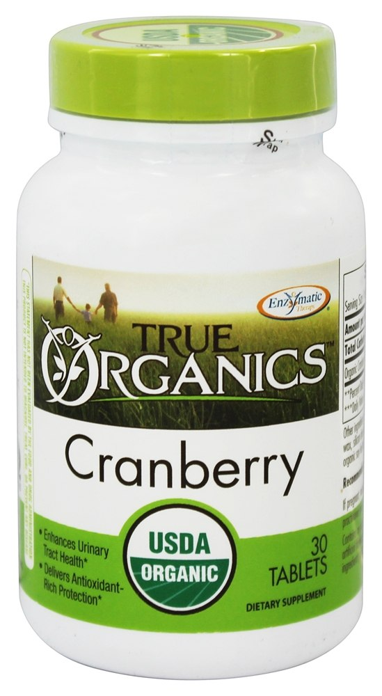 Enzymatic Therapy - True Organics Cranberry - 30 Tablets