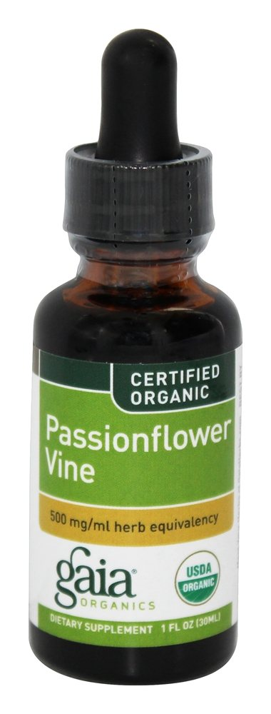 Gaia Herbs - Passionflower Vine Certified Organic - 1 oz.