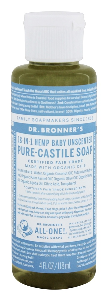 Dr. Bronners - Magic Pure-Castile Soap Organic Baby-Mild - 4 oz.