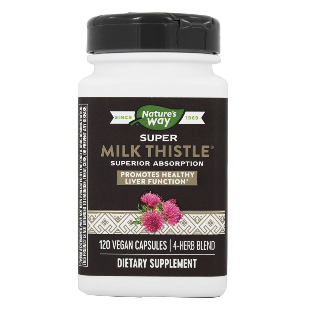 Enzymatic Therapy - Super Milk Thistle - 120 Vegetarian Capsules