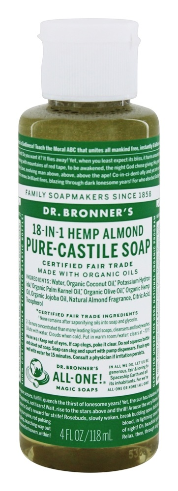 Dr. Bronners - Magic Pure-Castile Soap Organic Almond - 4 oz.