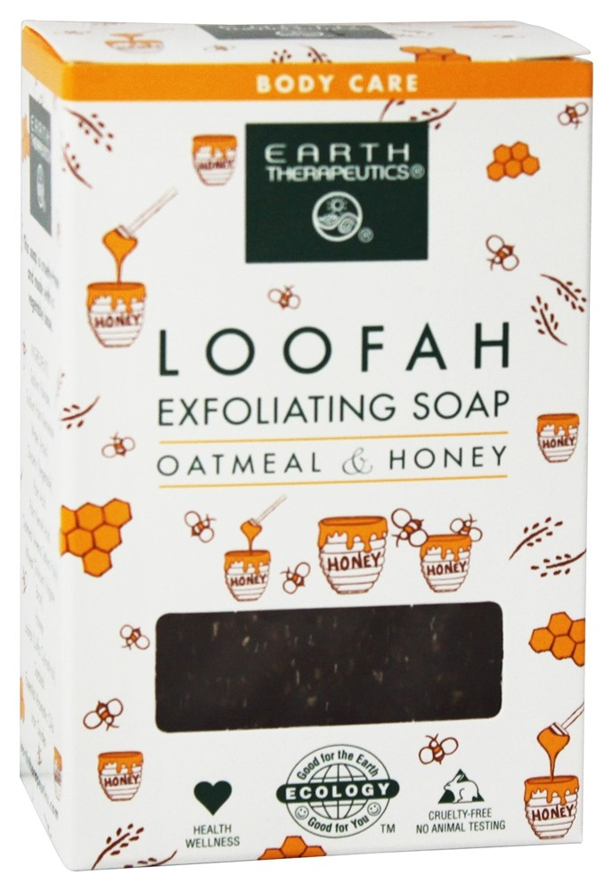 Earth Therapeutics - Loofah Exfoliating Soap Oatmeal & Honey - 4 oz.