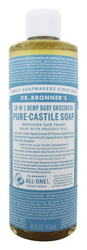 Dr. Bronners - Magic Pure-Castile Soap Organic Baby-Mild - 16 oz.
