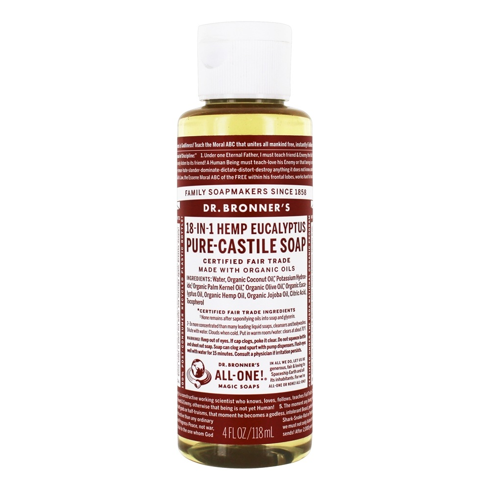 Dr. Bronners - Magic Pure-Castile Soap Organic Eucalyptus - 4 oz.