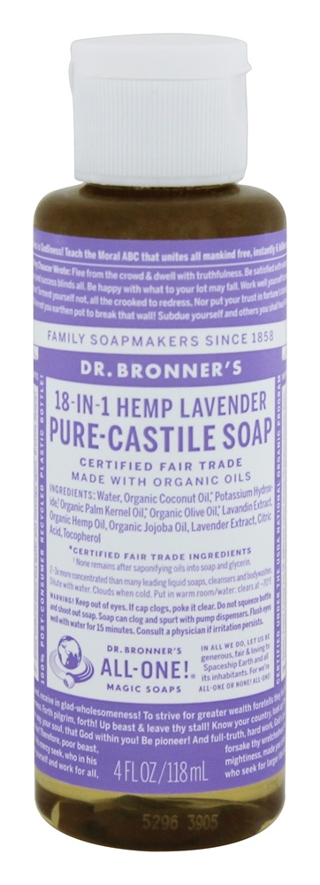 Dr. Bronners - Magic Pure-Castile Soap Organic Lavender - 4 oz.
