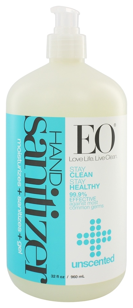 EO Products - Hand Sanitizing Gel Unscented - 32 oz.