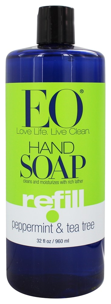 EO Products - Hand Soap Refill Peppermint & Tea Tree - 32 oz.