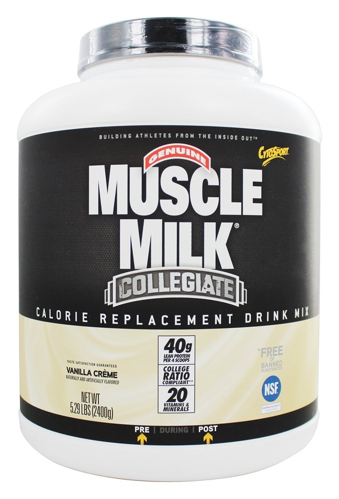 Cytosport - Muscle Milk Genuine Collegiate Calorie Replacement Drink Mix Vanilla Creme - 5.29 lbs.