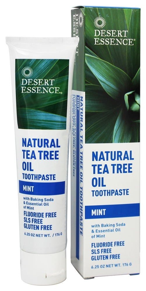Desert Essence - Toothpaste Natural Tea Tree Oil With Baking Soda Mint - 6.25 oz. LUCKY PRICE