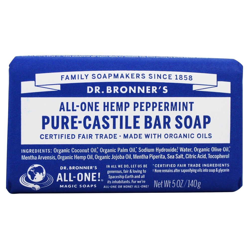Dr. Bronners - Magic Pure-Castile Bar Soap Organic Peppermint - 5 oz.